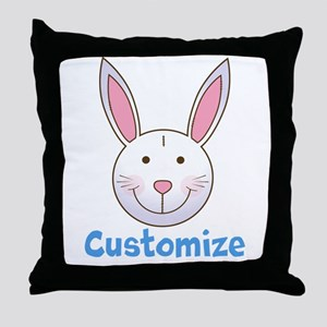Custom Easter Bunny Throw Pillow