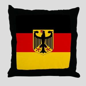 Flag: German & Coat of Arms Throw Pillow