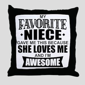 Favorite Niece Throw Pillow