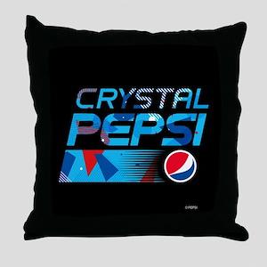 Crystal Pepsi Throw Pillow
