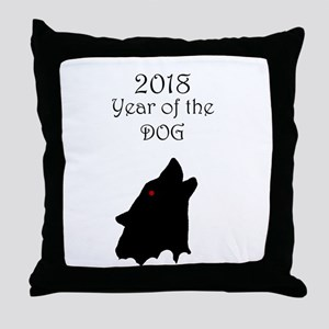 2018 Year of the Dog Throw Pillow