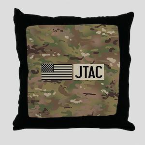U.S. Air Force: JTAC (Camo) Throw Pillow