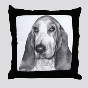 Bassett Hound Throw Pillow