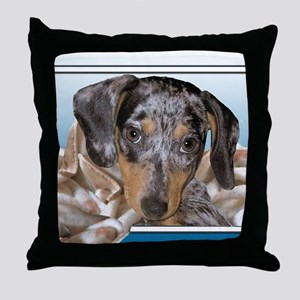 Speckled Dachshund Dogs Throw Pillow
