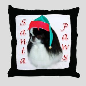 Santa Paws Japanese Chin Throw Pillow