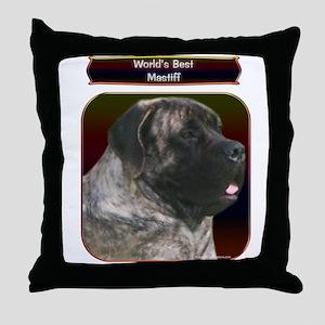 Mastiff 100 Throw Pillow