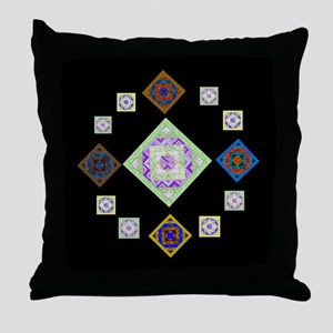 1881 quilting bee Throw Pillow