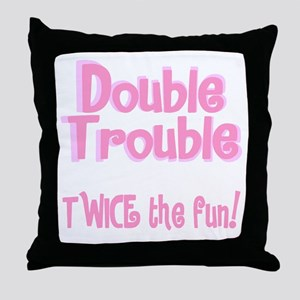 TwinBaby Double Trouble Throw Pillow