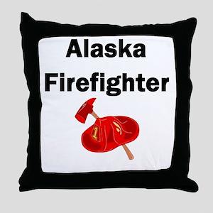 Alaska Firefighter Throw Pillow