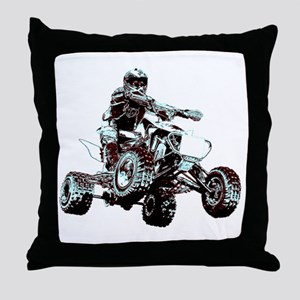 ATV Racing Throw Pillow