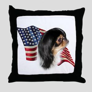 Chin Flag Throw Pillow