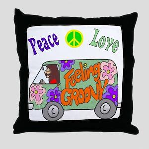 Groovy Van Throw Pillow