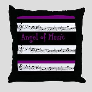 """Angel of Music"" Throw Pillow"