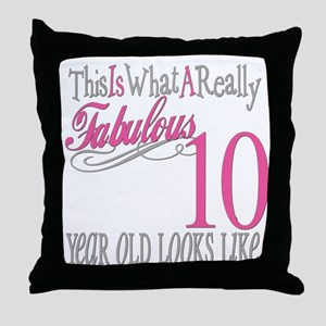 10th Birthday Gifts Throw Pillow