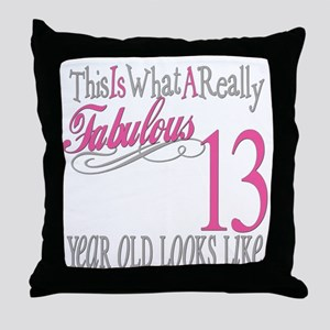 13th Birthday Gifts Throw Pillow