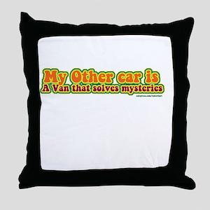 Mystery Van Throw Pillow