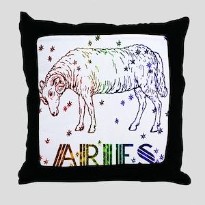ARIES SKIES Throw Pillow