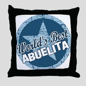 Worlds Best Abuelita Throw Pillow