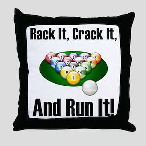 Rack It, Crack It Throw Pillow