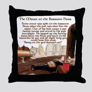 Mouse on the Pub Floor Throw Pillow