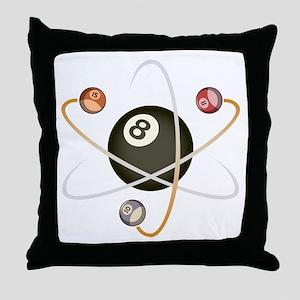 Billiard Atom Throw Pillow