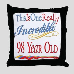 Incredible At 98 Throw Pillow