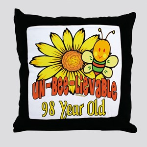 Un-Bee-Lievable 98th Throw Pillow