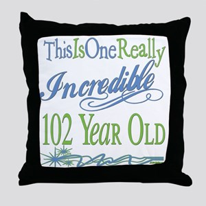 Incredible 102nd Throw Pillow