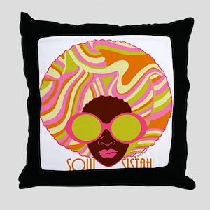 Soul Sistah Brown Throw Pillow