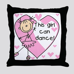 This Girl Can Dance Throw Pillow