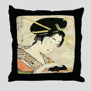Midoriki Throw Pillow