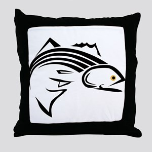 Striper Graphic Throw Pillow