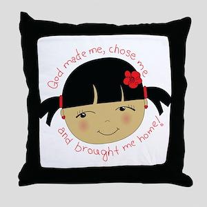 God Brought Me Home Throw Pillow