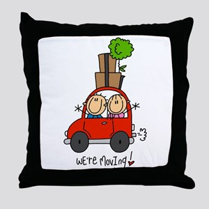 Car We're Moving Throw Pillow