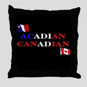 Acadian Canadian Throw Pillow