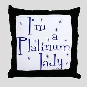 Platinum Lady Throw Pillow