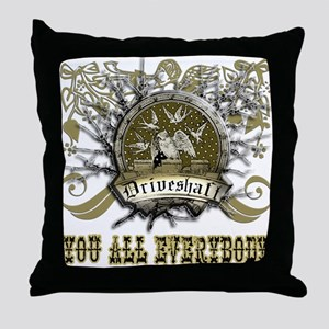 Lost Band Drive Shaft Grunge Throw Pillow