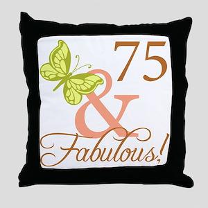75 & Fabulous (Autumn) Throw Pillow