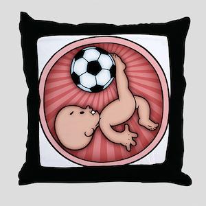 Soccer Baby Kick Throw Pillow