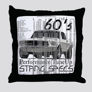60'S Mustang Specs Throw Pillow