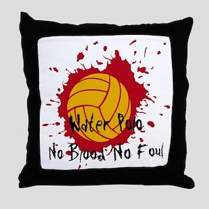 No Blood No Foul Throw Pillow