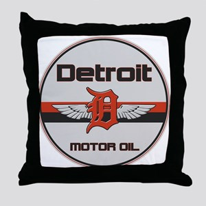Detroit Motor Oil Throw Pillow