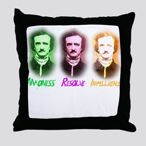 Edgar Allan Poe Throw Pillow