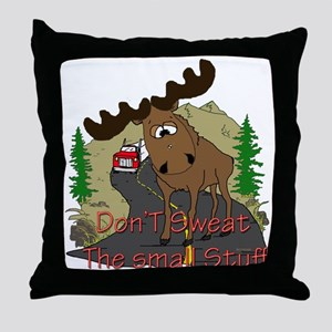 Moose humor Throw Pillow