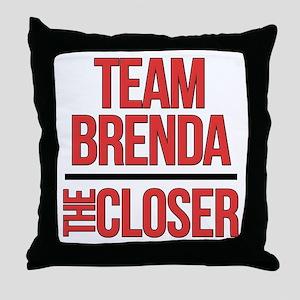 Team Brenda The Closer Throw Pillow