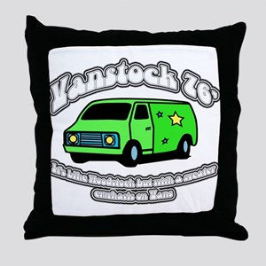 Vanstock 76 - White Text Throw Pillow