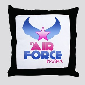Air Force Mom - Wings - Throw Pillow
