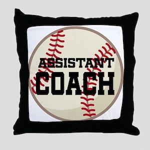 Baseball Assistant Coach Throw Pillow