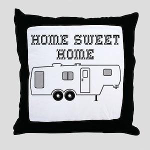 Home Sweet Home Fifth Wheel Throw Pillow