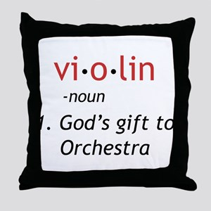 Definition of a Violin Throw Pillow